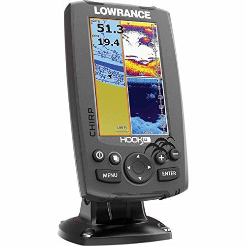 Lowrance Fischfinder/kartenplotter Hook 4 Mid/High/DownScan, 000-12647-001