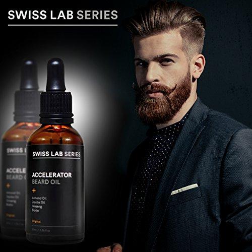 Ein Kräftiger, Voller Bart? Bartöl (Beard Oil) Zur Bartpflege Für Stärkeren Bart Und Mehr Männlichkeit -Testen Sie das Bartwuchsmittel Von Swiss Lab Series - Fördert Und Beschleunigt Ihren Bartwuchs