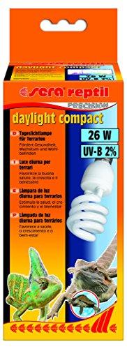 Sera 32018 reptil Daylight Compact / 26 W (2% UV-B) Lampada Luce Diurna per terrari, favorisce la Salute, la Crescita e Il Benessere