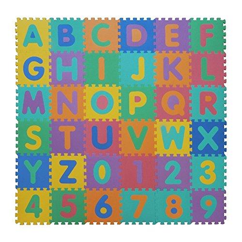 VeloVendo - Tappeto Puzzle con Certificato CE e Certificazione TÜV in soffice Schiuma Eva | Tappeto...