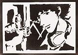 Poster Spike Spiegel Cowboy Bebop Grafiti Hecho A Mano - Handmade Street Art - Artwork