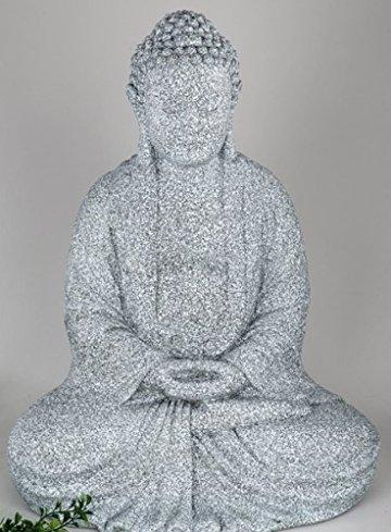 Formano figura decorativa Buda sentado, piedra coloures, 52 cm 3