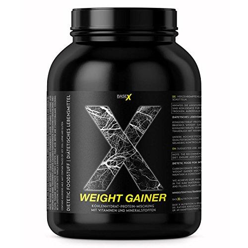 baseXnutrition, WEIGHT GAINER, la base per l'aumento di peso ottimale, la massa muscolare e la tonificazione, 750g cioccolato