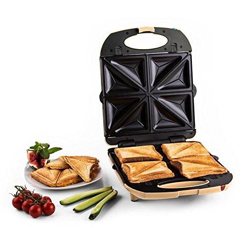 Klarstein Trinity 3 in 1 griglia per sandwich, tostapane elettrico per toast e waffle (1300W,...