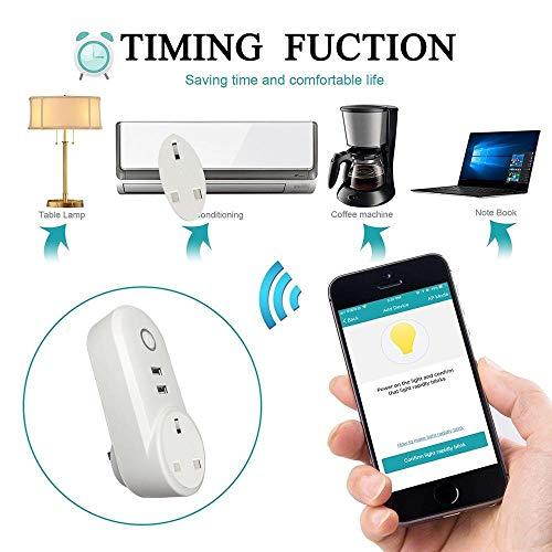 ATOMICO Voyant Lumineux Smart Plug avec minuterie USB Prise de commutateur WiFi Prise de télécommande Commande avec Amazon Alexa/Echo/Google... 26