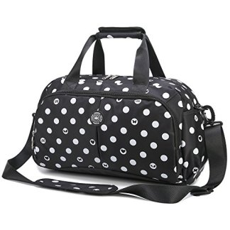 a58ad15987 AOKE Small Waterproof Spots Travel Bag Weekender Tote Duffel Luggage Gym  Purse for Girl