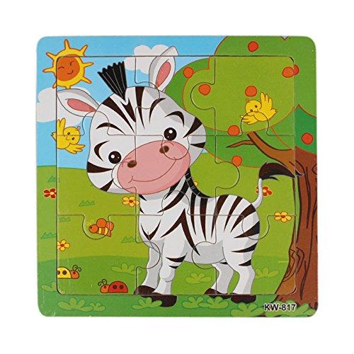 Giocattolo Puzzle Di Legno, LandFox 9PCS Di Legno Giocattoli Per Bambini Educazione E Apprendimento...