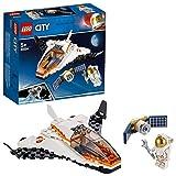 LEGO-La Mission d'Entretien, Set Inpiré par la NASA Composé d'une Navette et d'un Satellite City Enfant 5 Ans et Plus Jouet de Construction, 60224, Multicolore