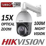 Hikvision DS-2AE4215TI-D DS-1602ZJ/WALL Caméra de vidéosurveillance PTZ 2 MP 1080P CMOS 15X Zoom Optique 1920 x 1080 HD-TVI CVBS BNC 100M Vision Nocturne extérieure avec Support de Montage Mural