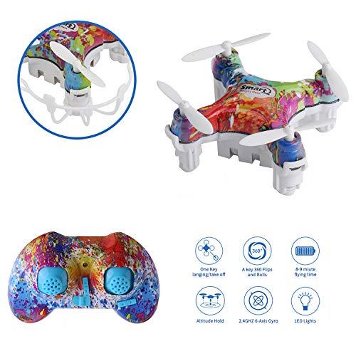 Mini Drone RC CELLSTAR Mini Giocattole Piccolo con Telecomando 2.4G 4CH a 6 Axis 3D Flips per...