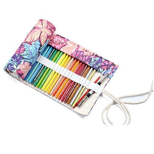 Moligh doll Multiuso 72 slot viaggio disegno colorazione matita rotolo organizzatore per artista,...