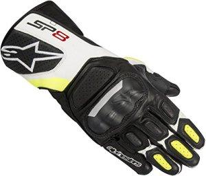 Alpinestars Motorradschutzhandschuhe, Motorradhandschuhe kurz SP-8 V2 Lederhandschuh, Herren, Sportler, Ganzjährig 10