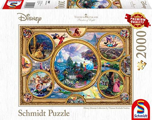 Schmidt Spiele 59607 - Puzzle Thomas Kinkade, Disney Dreams Collection, 2000 pezzi