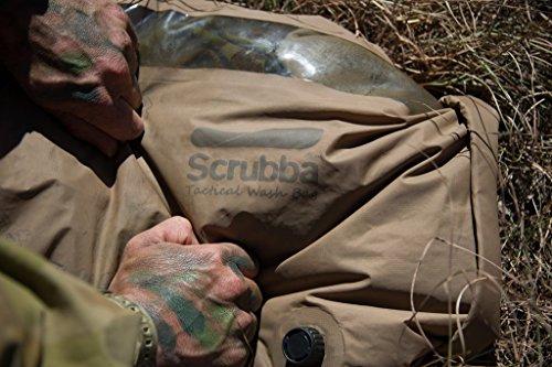 Scrubba Wash Bag 2.0 Tattica, Sacchetto Lavatrice Portatile, Borsa Sacco Resistente per Lavare,...