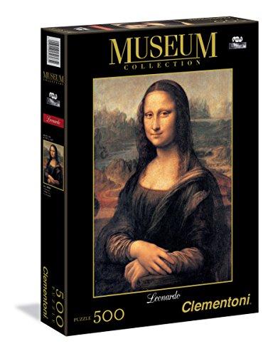Clementoni - 30363 - Museum Collection Puzzle - Leonardo da Vinci, Mona Lisa - 500 Pezzi