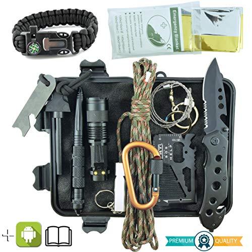 Kit Sopravvivenza Militare Professionale di Terza Generazione Emergenza Montagna Trekking...