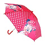 Mercopol Parapluie Minnie Mouse, Plastique, Rouge, 66.00 x 66.00 x 57.00 cm