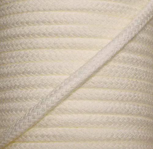 Großhandel für Schneiderbedarf 5 m Baumwollkordel 8 mm Creme/weiß