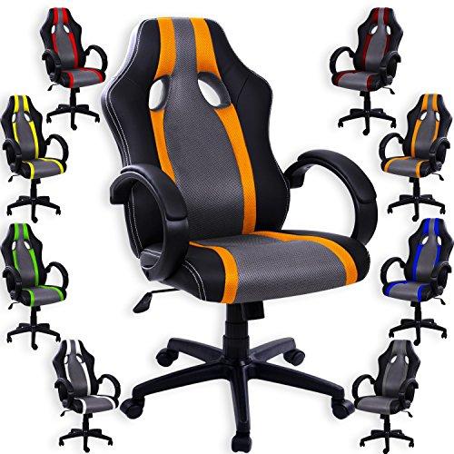 Kesser® Bürostuhl Sportsitz Chefsessel Schreibtischstuhl Drehstuhl Stuhl Schalensitz PU
