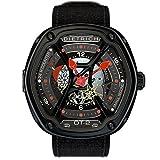Dietrich OT-2 Automatic Watch, PVD, Black, 46mm, 5 atm, Nylon strap