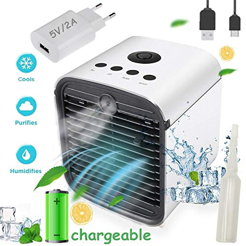 Air Cooler Portable Condizionatore Portatile - 3 in 1 Mini Raffrescatore D'aria Evaporativo...