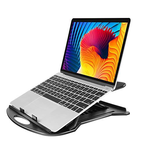 Supporto Laptop Regolabile con Base Girevole a 360° & 7 Angoli di Inclinazione, Riser per Laptop...