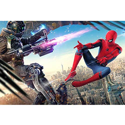 Puzzle Fumetti Avengers Spider-Man, Jigsaw Legno, Poster Marvel Superhero, Basswood Perfect Cut &...