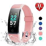LETSCOM Fitness Armband mit Pulsmesser, Fitness Tracker IP68 Wasserdicht 0,96 Zoll Farbbildschirm Aktivitätstracker Schrittzähler Schlafmonitor für Herren und Damen