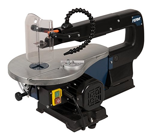 FERM Scroll Saw - Fret Saw - 90W is ideal for every DIYer due to its simple design. The on/off controls are conveniently placed within reach for straightforward use. You will also be able to make angled cuts thanks to the adjustable working table.