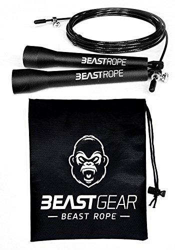 Springseil von Beast Gear – Speed Rope Für Fitness, Ausdauer & Abnehmen. Ideal für Boxen, MMA, Crossfit, HIIT, Intervalltraining & Double Unders