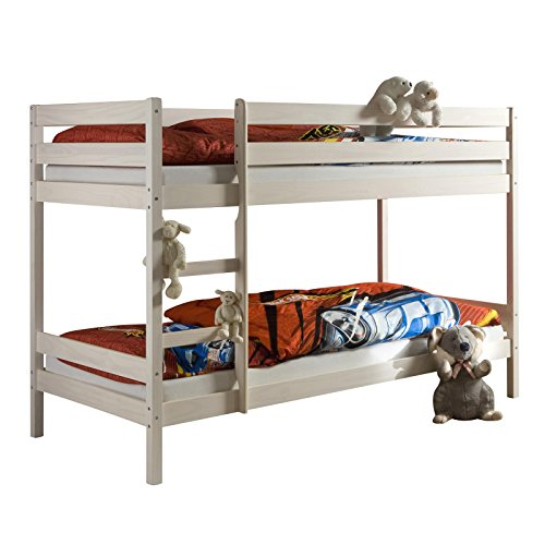 IDIMEX Etagenbett Doppelstockbett Felix für Kinder Hochbett Kinderbett mit Leiter Kiefer massiv Natur 90 x 200 cm (B x L)