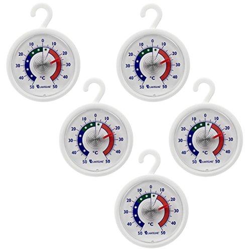 Set da 5 termometri per Frigorifero – congelatore – Termometro Rotondo con Gancio per Appendere,...