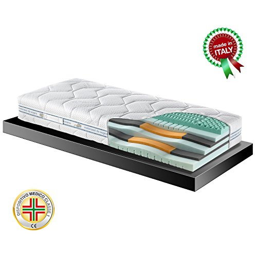 Goldflex - Splendid Night Materasso Memory Foam Singolo 80x190 6 Strati Fresh H24cm Rivestimento...