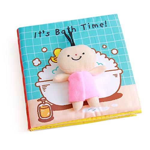 Libri Bambini, It's Bath Time Soft Book Libro Primi Mesi in Tessuto Bambino Cognition Libro,...