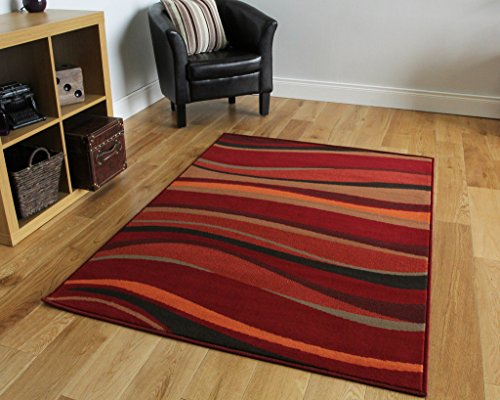 The Rug House Tappeto moderno, motivo onde, disponibile in 8 formati, colore:...