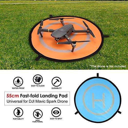 MachinYesity 55cm Landing Pad Fast-Fold Noctilucent FPV Drone Parking Grembiule Pad Pieghevole per...