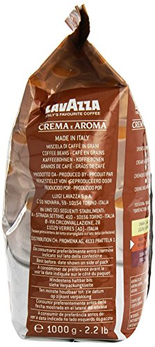 Lavazza Crema E Aroma coffee beans (a chocolate notes coffee with aromas of dried fruit and chocolate)