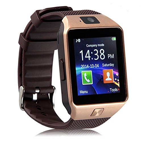 Premsons Bluetooth Smart Wrist Watch Phone With Camera & Sim Card(Gold Brown)