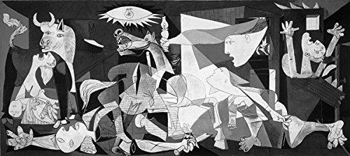 L'AFFICHE ILLUSTRE'E Picasso 'Guernica' Stampa Artistica in offset su carta da gr.300 cm. 140 x 70...