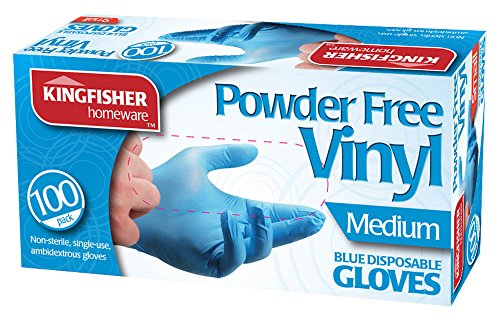Marksman senza polvere guanti in vinile, blu, media–Confezione da 100