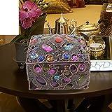mestieri/contenitore di monili di scatola di gioielli/Principessa europea giardino portagioie/scrigno di bronzo a mano/scatola di immagazzinaggio