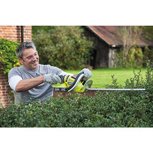 If you were looking for a unit with a long blade then the Ryobi OHT1855R ONE+ Cordless Hedge Trimmer with hedge Sweep is the one for you. It features a 55cm blade that is able to cut through both light and thick branches. What makes this product better is the hedge sweep and the swivel head. This is because it allows you to cut your hedges as you would see feet. If you are engaged in topiary then this long-bladed unit may serve you well. It is altogether an affordable unit even with the extra purchases. Don't be shy, this unit will perform as well as advertised.