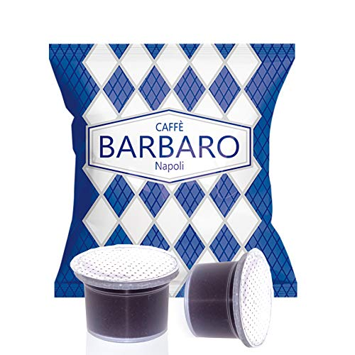 100 Capsule Uno System Barbaro Caffe' Cremoso Napoli Miscela Blu