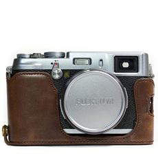 MegaGear Ever Ready - Funda de Piel para Fujifilm X100S, Color marrón Oscuro