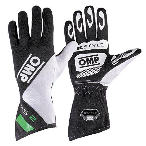 OMP OMPKK02742230M Ks-2 Guanti, colore: verde/bianco/nero, taglia M