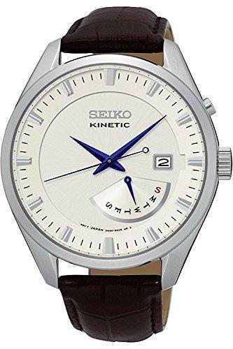 Seiko Herrenuhr Analog Quarz mit Lederarmband - SRN071P1