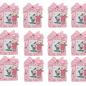 Asera Pink Set Of 12 Embellished Wooden Pen Stands Cum Photo Frame For Kids Birthday Return Gifts