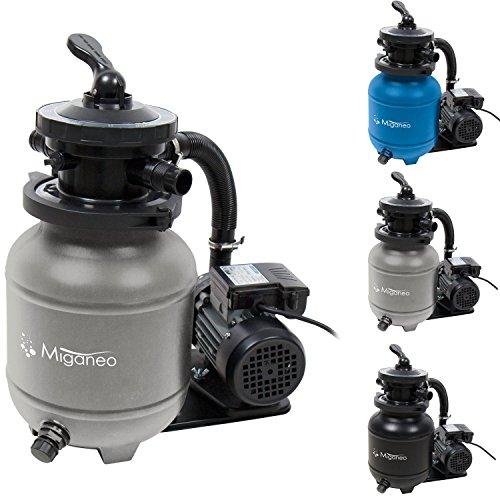 Miganeo 40385 Sandfilteranlage Dynamic 6500 Pumpleistung 4,5m³ blau, grau, schwarz, für Pool Schwimmbecken (Grau)
