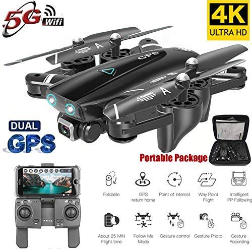 Qnlly Droni 5G Drone FPV con videocamera 1080P HD 120 ° Rotazione, RC Quadcopter (18 Minuti, Motore brushless, GPS Return Home, Follow Me, Altitude Hold. Droni RC per Adulti e Bambini)