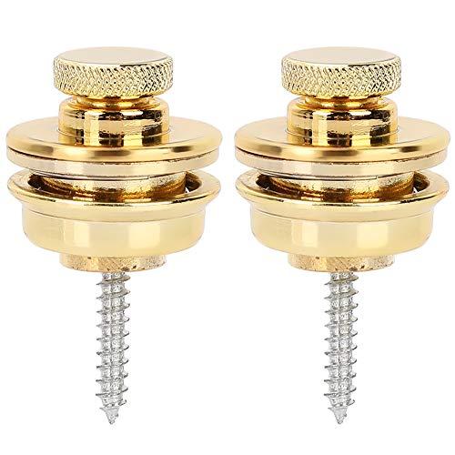 Fibbie per cinturino rotonde antiscivolo con punte per chitarra di fascia alta(Oro)